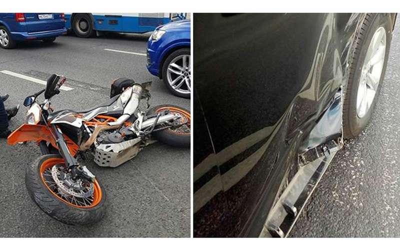 «Он врезался в меня!» - депутат попал в ДТП с мотоциклистом