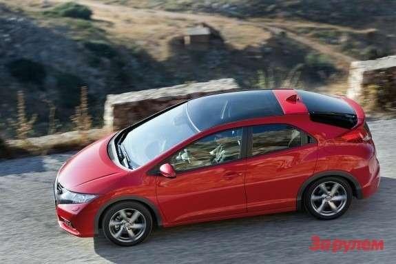 Honda Civic side-top view