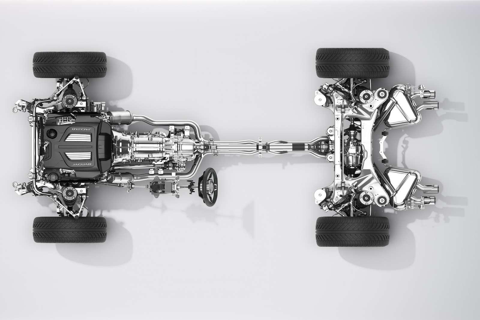 Система полного привода (AWD) Jaguar F-Type 2016 модельного года