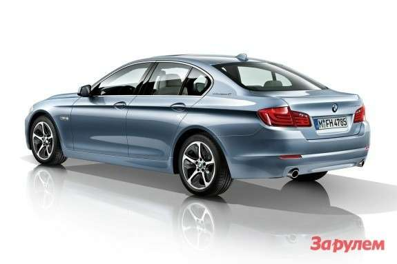 BMW 5 ActiveHybrid side-rear view