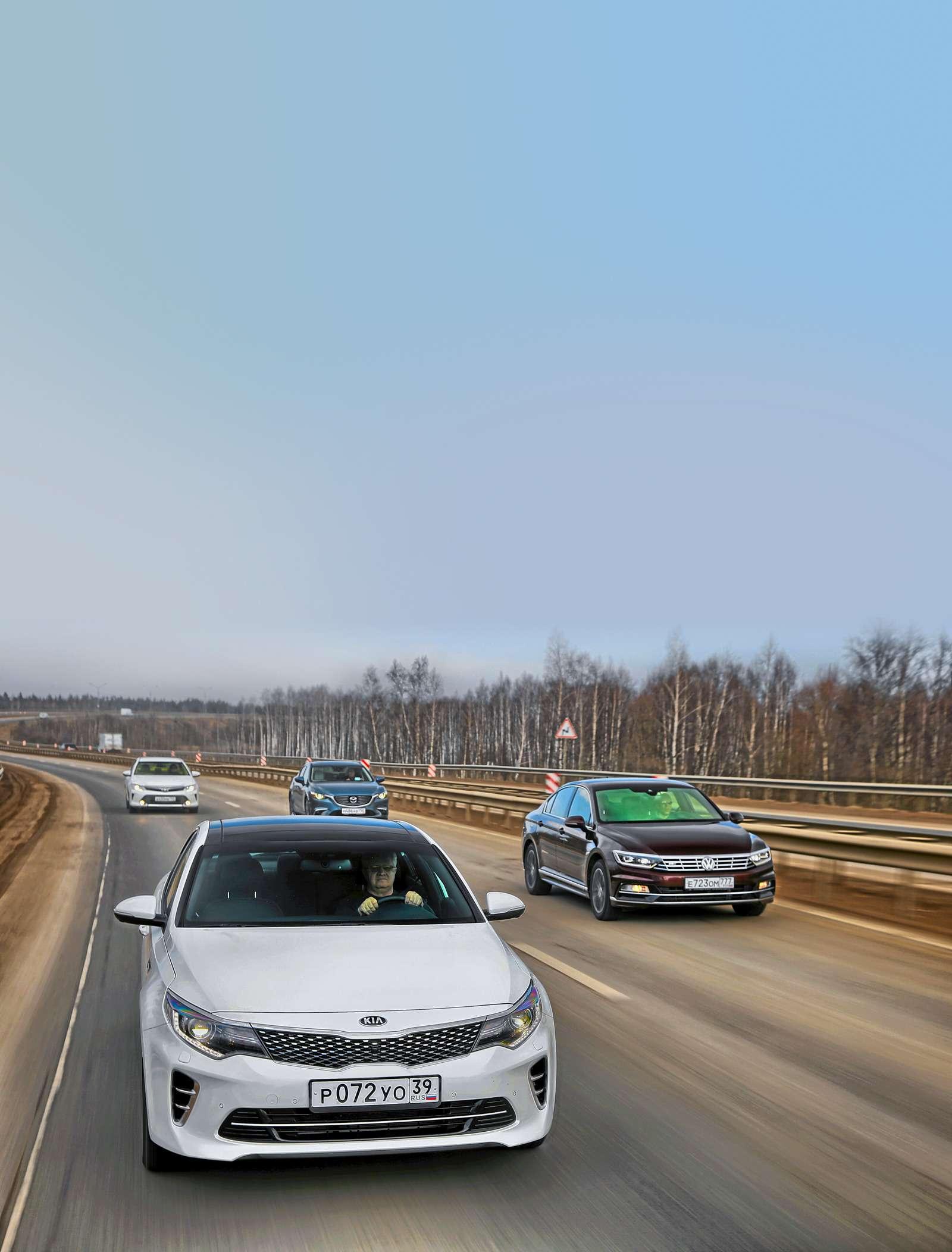 Супертест: новая Kia Optima против трех конкурентов— фото 596126