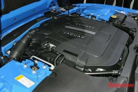 Jaguar's XKR-S engine compartment