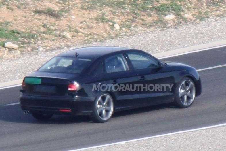 Audi A3sedan test prototype side-rear view_no_copyright