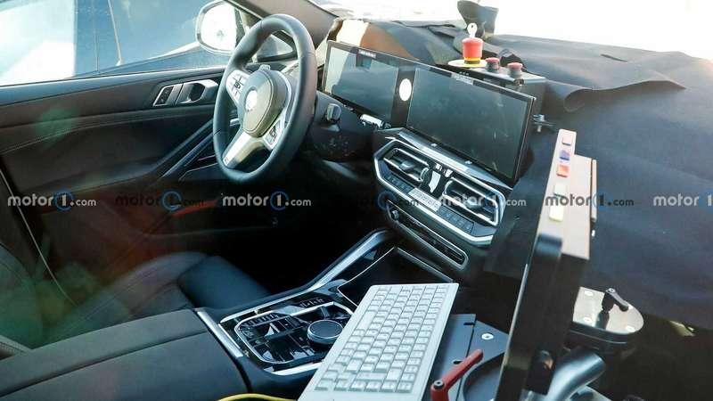 Первые фото рестайлинговой BMW X6: очень длинный экран