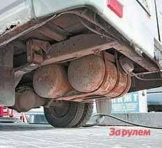 Такстоят пропановые баллоны наавтобусах «ГАЗель»