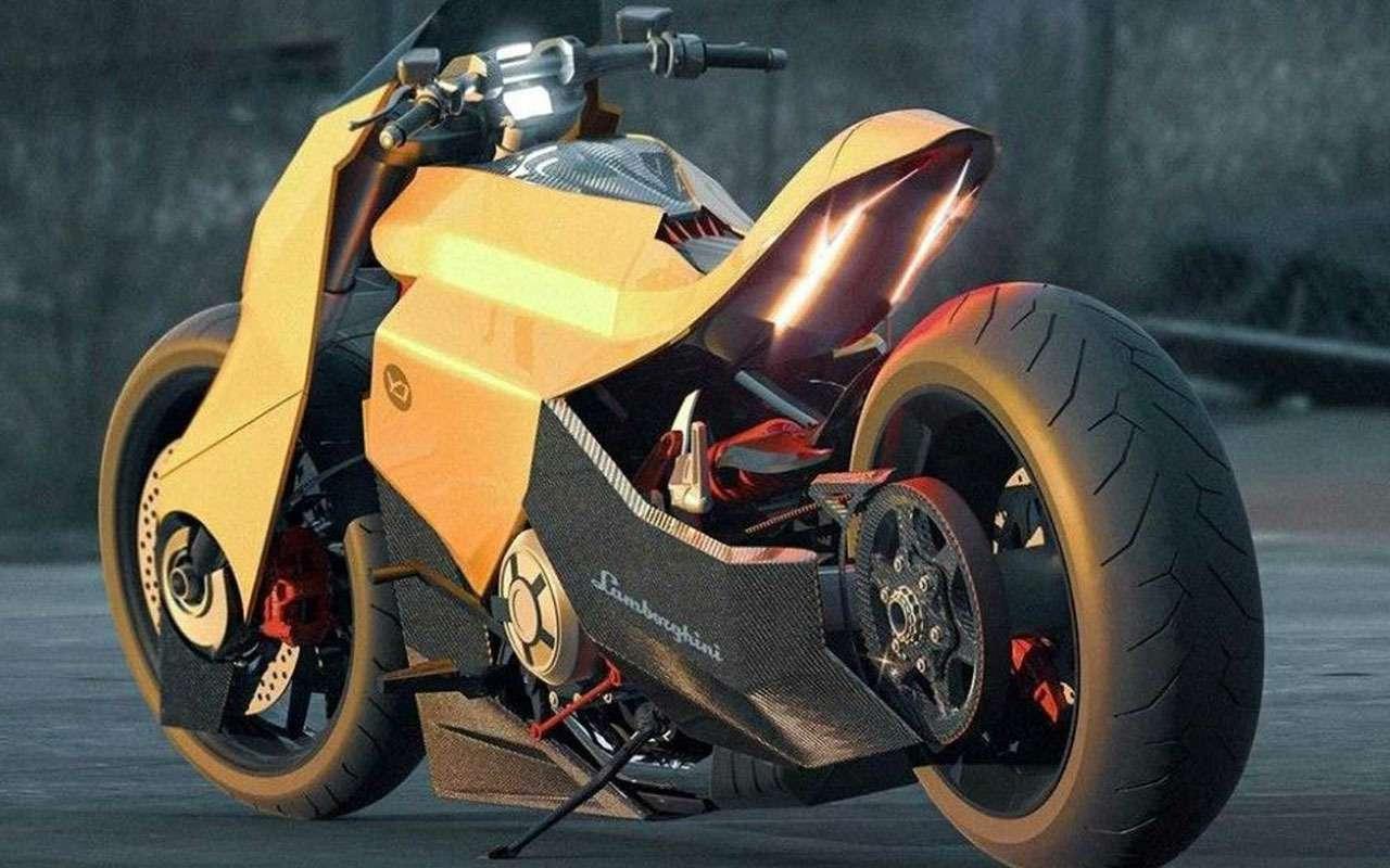 Мотоцикл Lamborghini: вот так онможет выглядеть— фото 1200506
