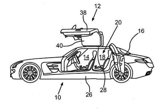 Four-door SLS AMG patent image
