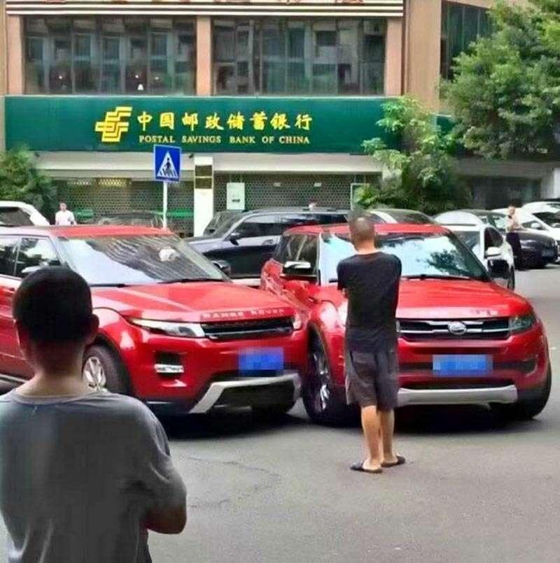 Атака клона: вКитае столкнулись Range Rover Evoque иего копия— фото 615394