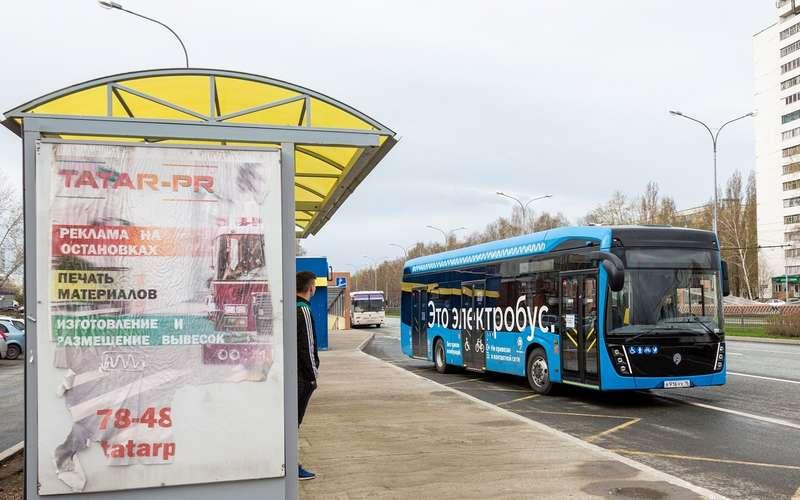 Одна изнаиболее распространенных вМоскве моделей электробуса— КАМАЗ-410127