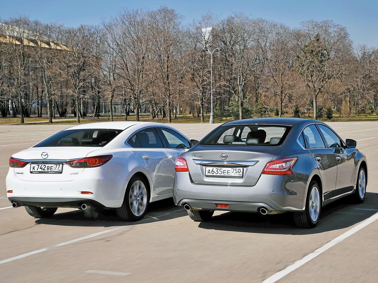 Mazda6и Nissan Teana
