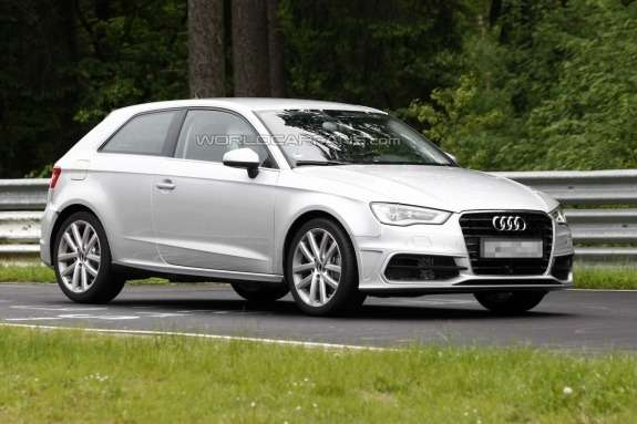 Audi S3 test prototype side-front view