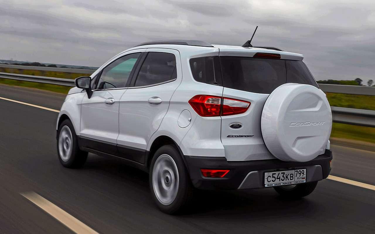 Большой тест кроссоверов: обновленный Ford EcoSport иконкуренты— фото 911176