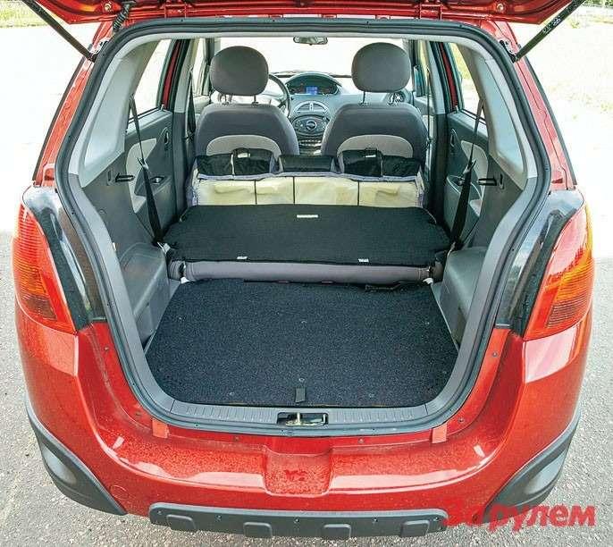 Понашим замерам, багажник «Индиса» уступает трюму «Сандеро» всего 16литров. Асразложенным задним диваном производитель оценивает его объем вкубометр (1000л).