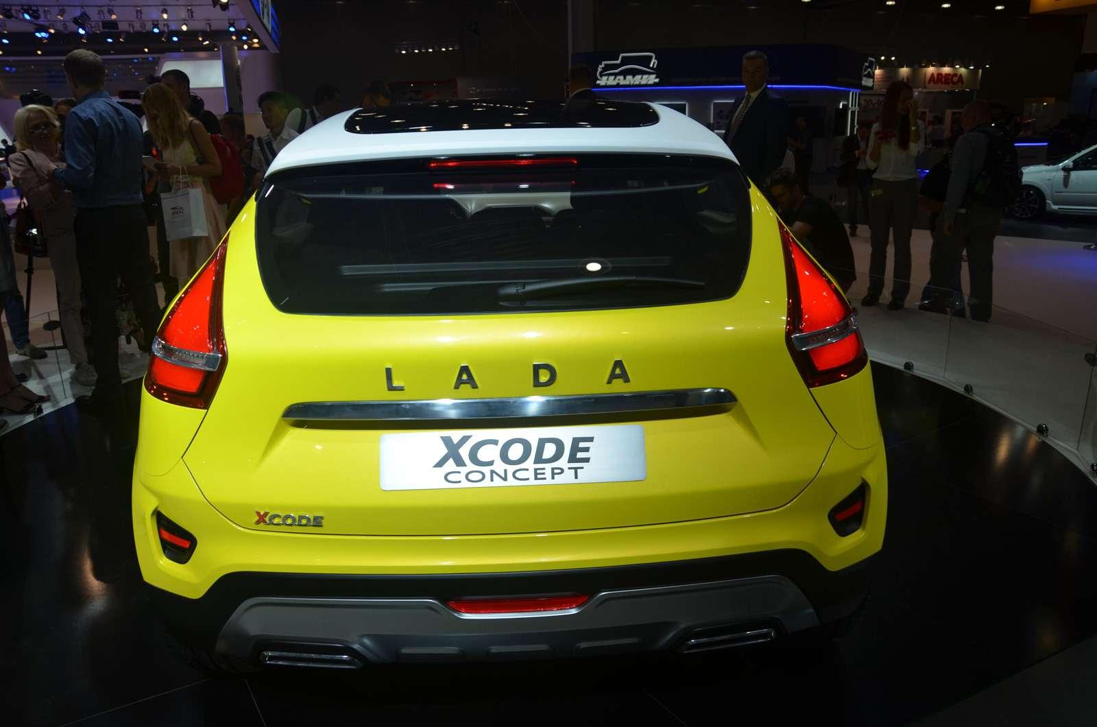 НаМосковский автосалон Lada въехала наXCODE— фото 623979