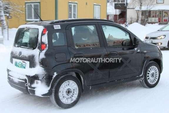Fiat Panda 4x4 test prototype side-rear view