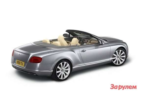 Bentley Continental GTC side-rear view 2