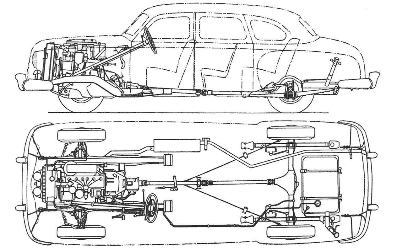 Седан для парткома: удивительная история ГАЗ‑12 ЗИМ - фото 1172405