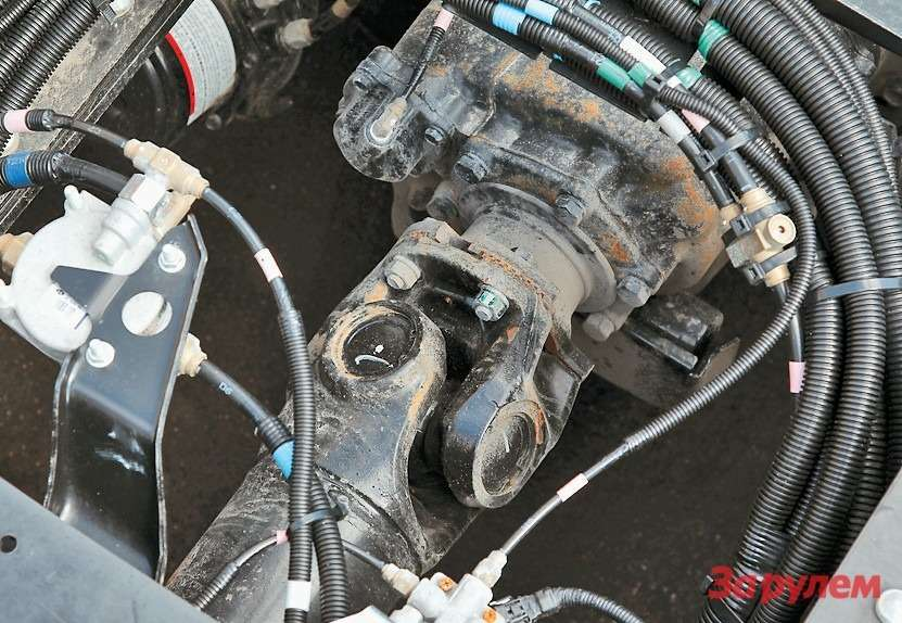 Фланцы кардана тоже выполнены по стандарту ISO— сторцевыми шлицами